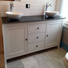 ikea vanity top. Simple Top IKEA Hack This Black And White Master Vanity Features A Hemnes Sideboard  Cabinet Converted Into Budgetfriendly Dual Sink Vanity Complete With  On Ikea Vanity Top O