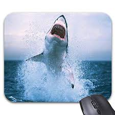 great white shark jumping.  Great Great White Shark Jumping Out Of Water Mouse Pad 986 X 768in Intended