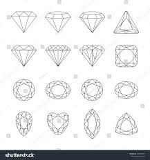Set Of Isolated Gem Stonesvector Set Of Diamond Design Elements