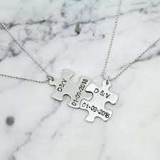personalised puzzle piece sterling
