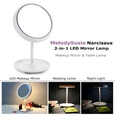 mirror lamp. amazon.com : melodysusie makeup mirror table lamp - narcissus touch control led and / 2-in-1 lamp, battery operated or usb
