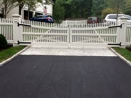 Driveway Gates and Picket Fence in New Canaan CT Riverside Fence
