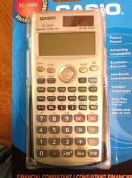 Financial Calculator Eddies Math And Calculator Blog First Look Casio Fc 200v