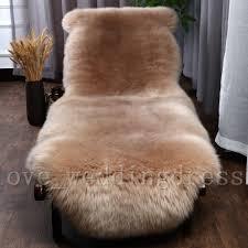 details about 100 genuine sheepskin rug natural pelt sofa mat pad real lambskin fur carpets