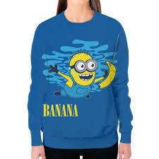 Свитшот женский с полной запечаткой <b>Banana</b>. <b>Миньоны</b> ...