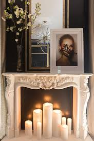 love the candles inside the fireplace not so much what s on top of