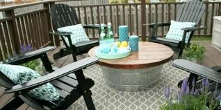 patio coffee table round metal
