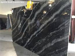 agatha black granite 3cm slabs