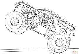 Remarkable Free Monster Truck Coloring Pages To Print Max D Page