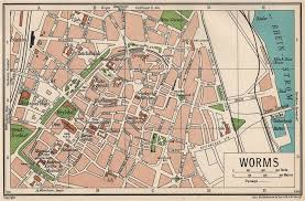 Details About Worms Vintage Town City Map Plan Germany 1933 Old Vintage Chart