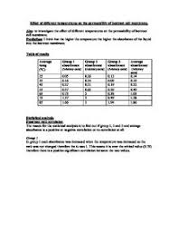 effect of different temperatures on the permeability of beetroot page 1