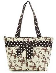 Quilted Handbag with Horses with polkadot bow - $9.99 & Quilted Handbag with Horses Adamdwight.com
