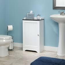 White Floor Bathroom Cabinet Amazoncom Sauder Caraway Floor Cabinet In Soft White Kitchen