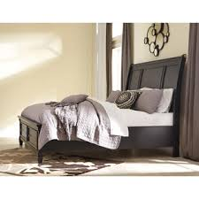 Ashley Greensburg King Size Bedroom Furniture Set Black Contemporary Style  Bed Dresser Mirror Night Stand