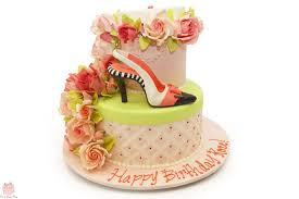 Roses 90th High Heel Inspired Birthday Cake