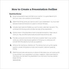 presentation outline templates ppt word pdf documents  how to create a presentation outline template