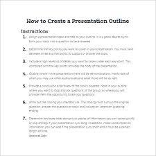 presentation outline templates ppt word pdf documents how to create a presentation outline template