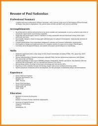 Resume Professional Summary Examples New Resumes Professional Summary Examples Musiccityspiritsandcocktail