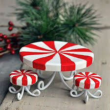 Candy Cane Table Decorations Fairy Garden TableChristmas Fairy GardenCandy Table 44