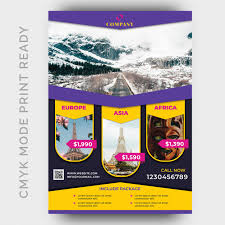 Holiday Tour Travel Flyer Design Template Psd File