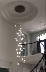 staircase lighting fixtures. Full Size Of Lighting, Foyer Lighting Hand Blown Glass Staircase Chandelier Incredible Images Concept Chandeliers Fixtures X