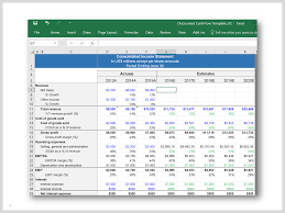 Cash Flow Model Excel Discounted Cash Flow Excel Cash Flow Statement Financial