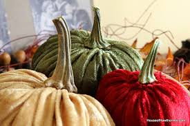 tutorial for how to make velvet or fabric pumpkins for your fall home decor they