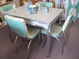 Polyurethane Cotton Slat Black Vintage 1950s Formica Kitchen Table