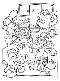 Kleurplaten Thema Eten Brekelmansadviesgroep