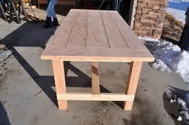 diy outdoor farmhouse table. Farm Table Before Staining Diy Outdoor Farmhouse