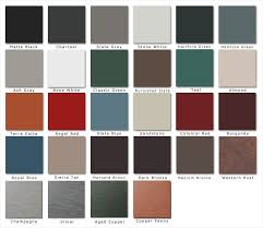 Mid America Color Chart Mcelroy Metal Color Chart Fresh Mid America Metal Roofing A