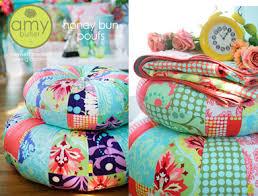 Amy Butler Patterns Simple Amy Butler AB48HB Honey Bun Poufs