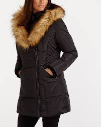 faux fur collar winter coat