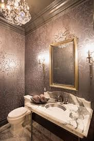 ... Rich Cole and Son's Malabar Wallpaper steals the show in this dashing powder  room [Design