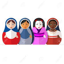 traditional russian matryoshka dolls representing different illustration traditional russian matryoshka dolls representing different cultures women in different traditional clothes symbol of peace friendship and