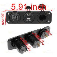 12v dual usb port charger digital voltmeter power socket panel 12v dual usb port charger digital voltmeter power socket panel car marine