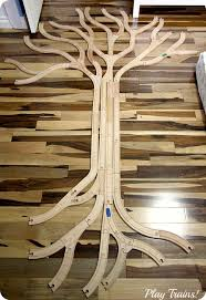 tree track learning about trees with wooden train tracks play trains