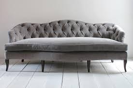 Image Of Classic Grey Tufted Sofa E82