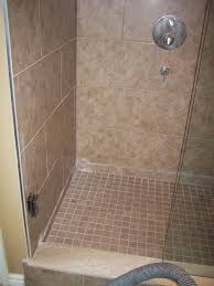bathroom shower stalls with beige tile wall and small beige tile floor mesmerizing design