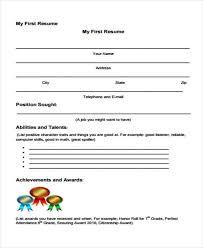 40 First Resume Templates PDF DOC Free Premium Templates Amazing First Resume