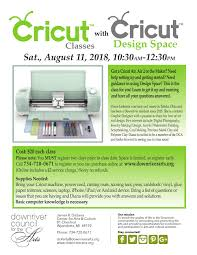 Learn Cricut Design Space Cricut And Cricut Design Space 8 11 18 Downriver Council