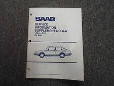 saab service manual 1986 1987 saab 99 900 service information supplement no 6 a manual factory 87