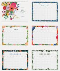 Appointment Calander Rifle Paper Co 2019 Garden Party Appointment Wall Calendar The