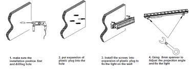 rgb led wall washer bar led linear