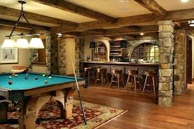 basement bar ideas. Basement Back Bar Ideas Rustic Traditional With Exposed Beams .