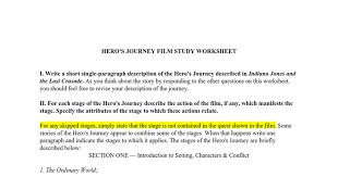 HERO'S JOURNEY FILM STUDY WORKSHEET - Google Docs