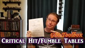 Critical Hit Fumble Tables Gm Toolbox