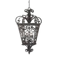 four light outdoor hanging front porch cage pendant traditional gothic