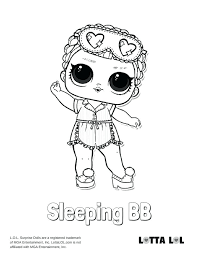 Lol Doll Coloring Pages Sleeping Surprise Doll Coloring Page Lol