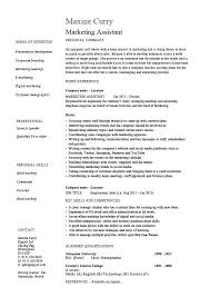 Marketing Assistant Job Description For Resume